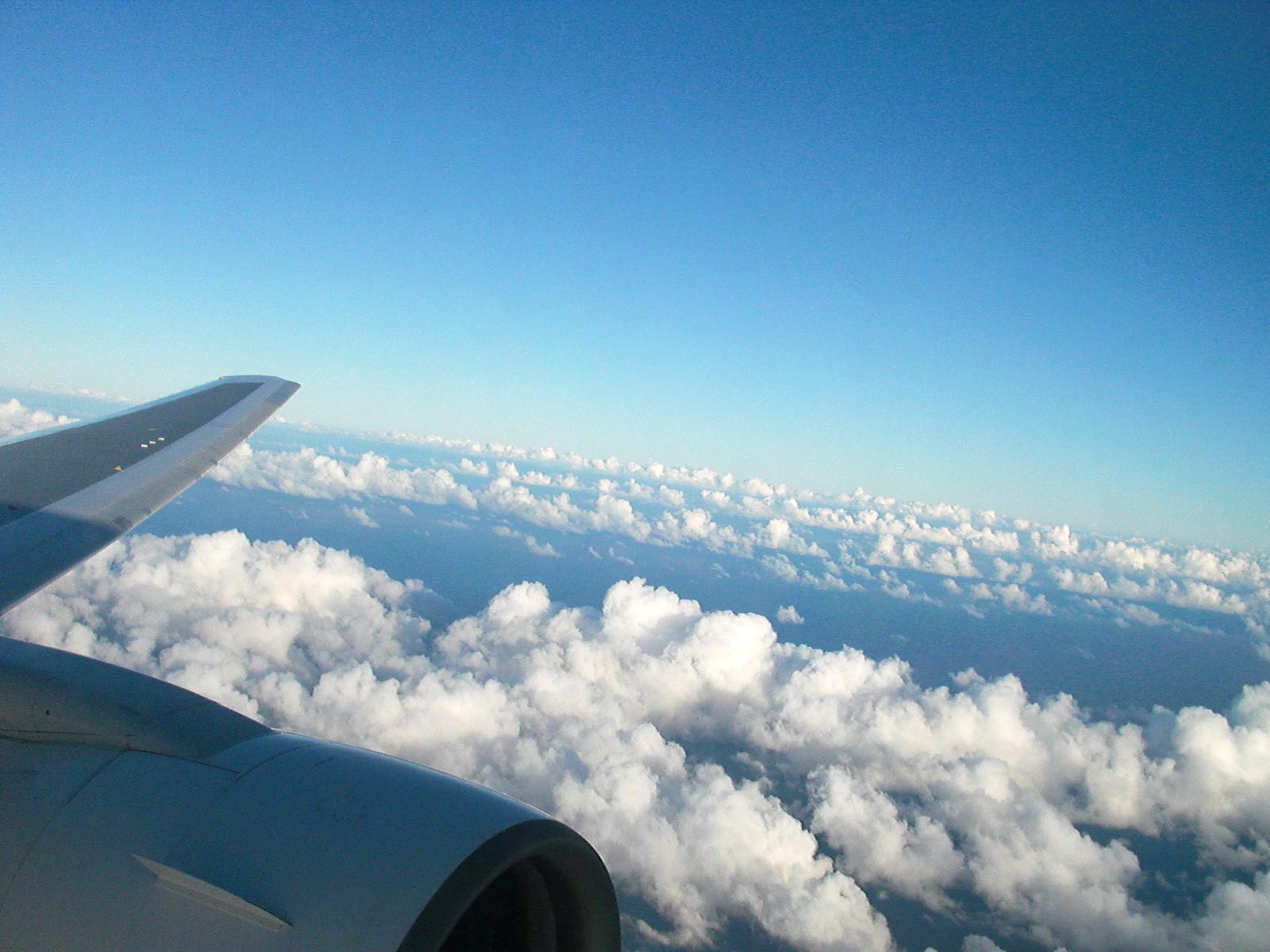 機内から見た景色