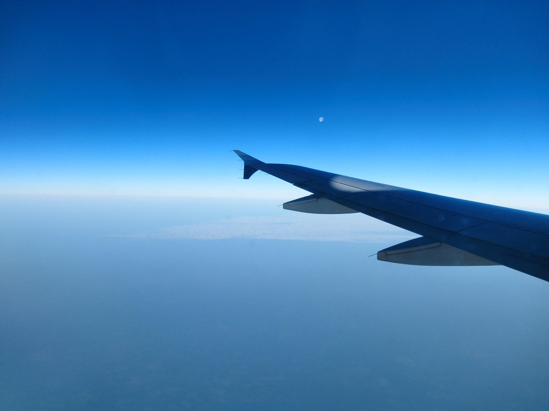 飛行機から見た風景