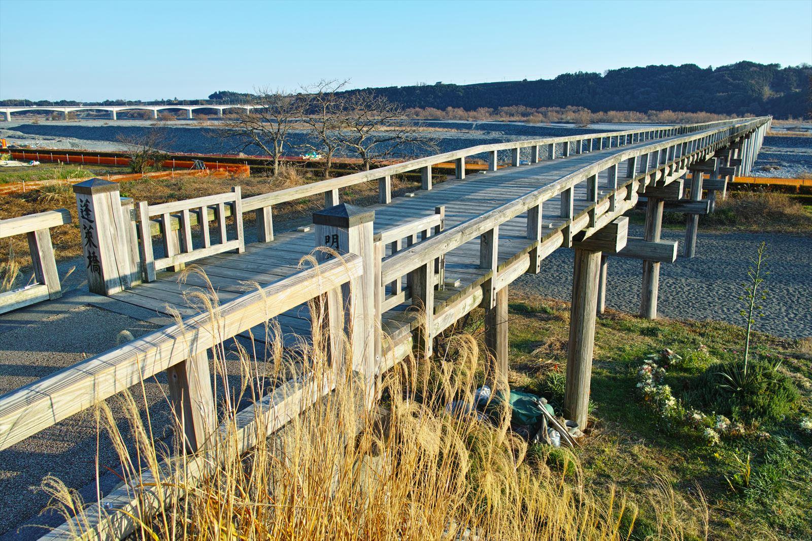 静岡県の蓬莱橋