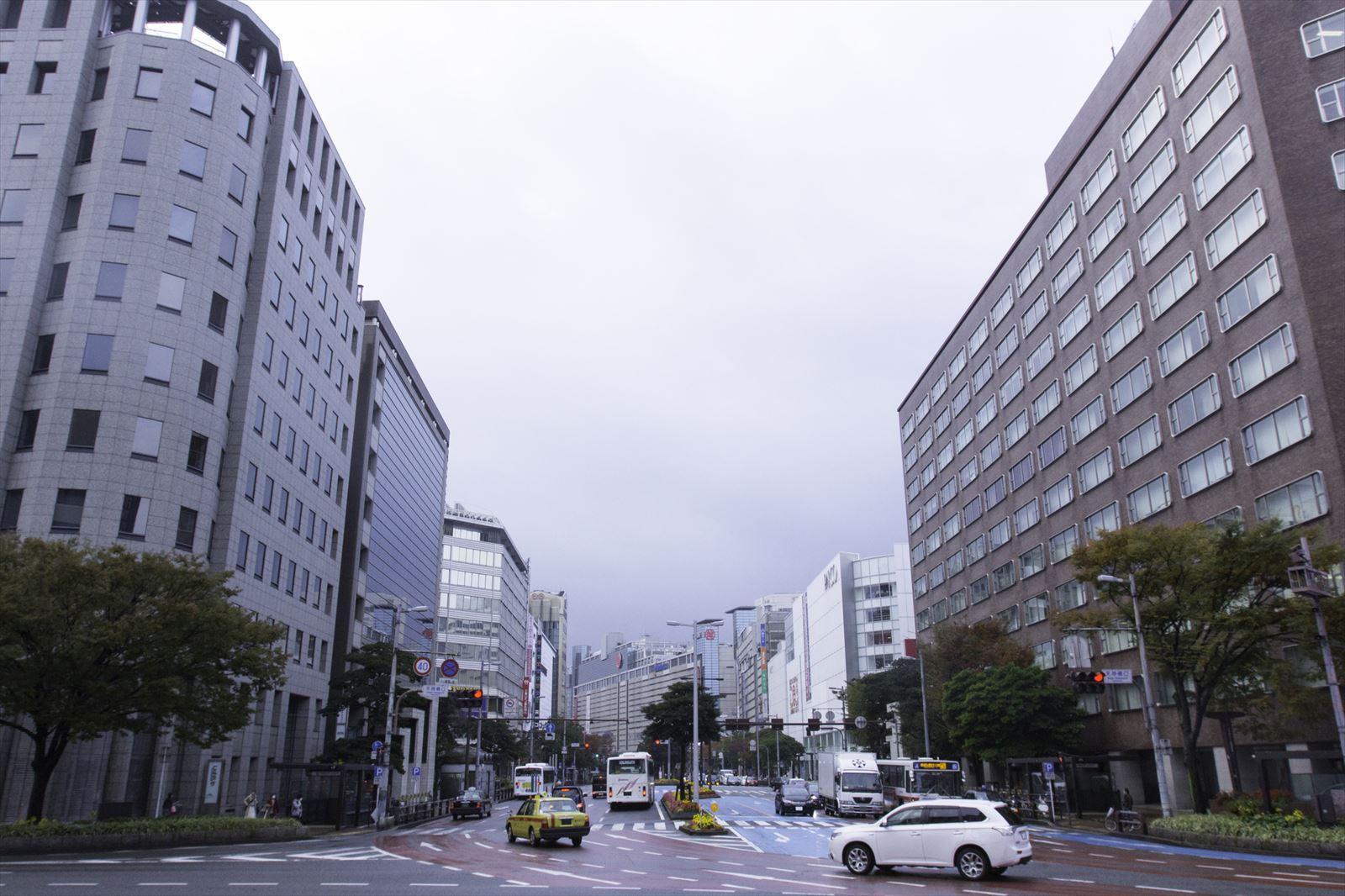 福岡の町並み