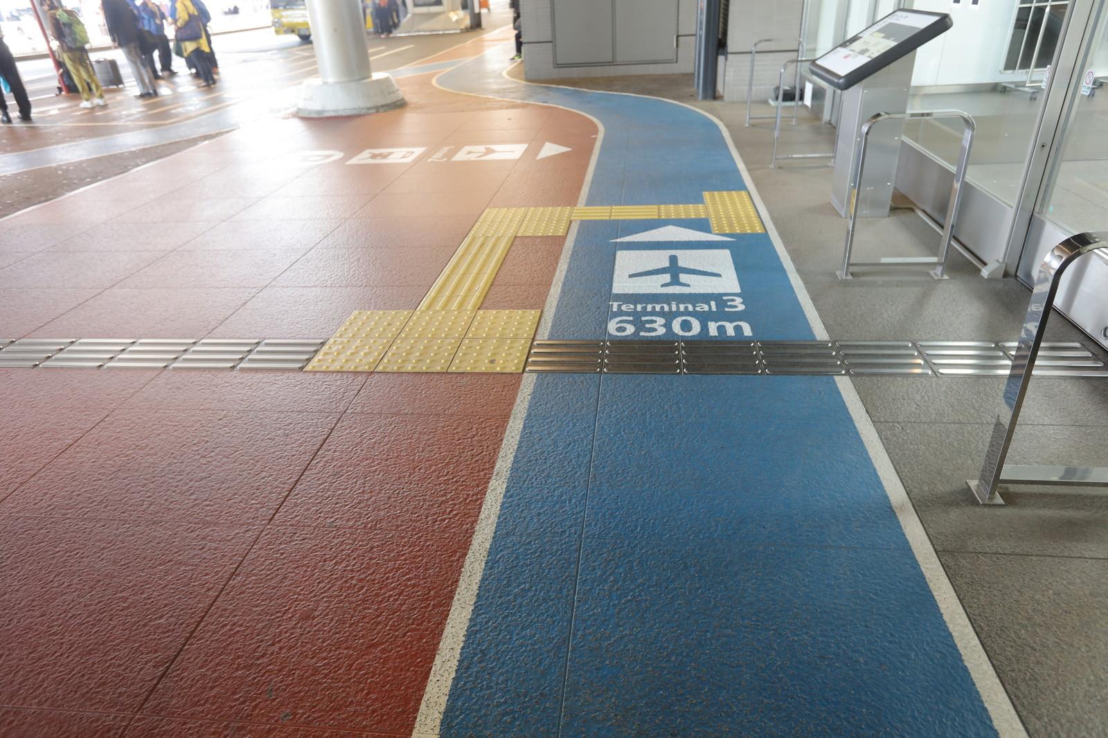 ターミナルへの案内図