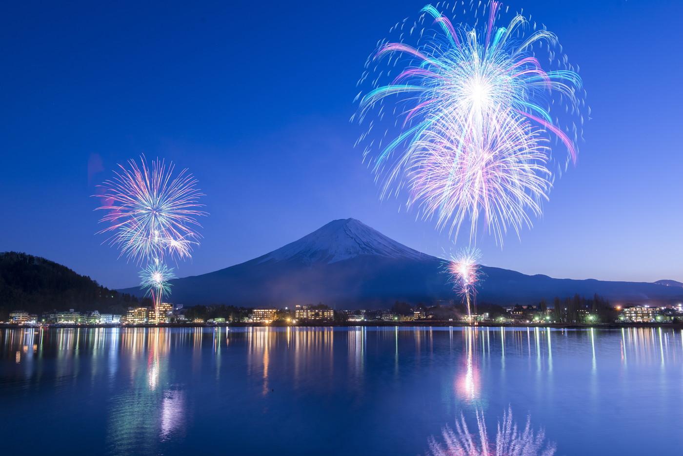 富士山・河口湖山開きまつり花火大会