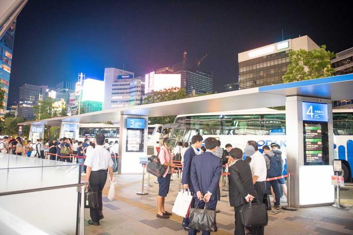 東京駅八重洲からのバス乗り場