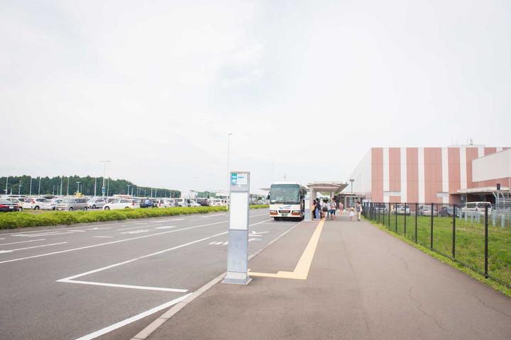 茨城空港のバス乗り場
