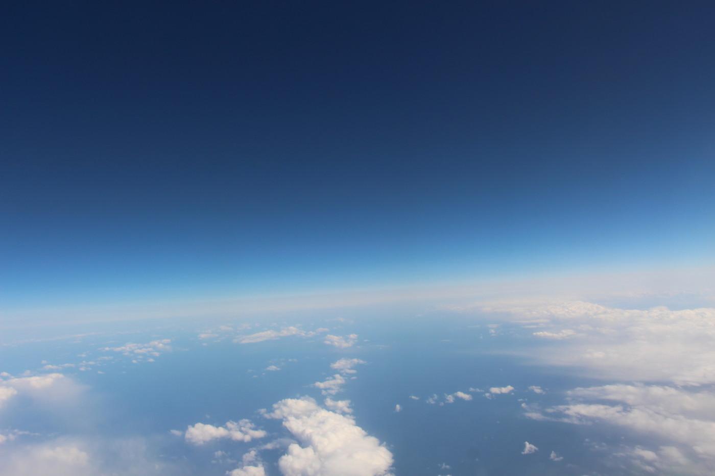 機内からの画像
