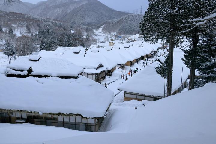 大内宿の雪景色